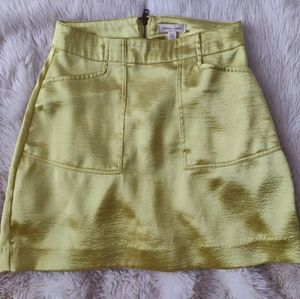 UO Silence + Noise Kelly Shiny Mini Skirt